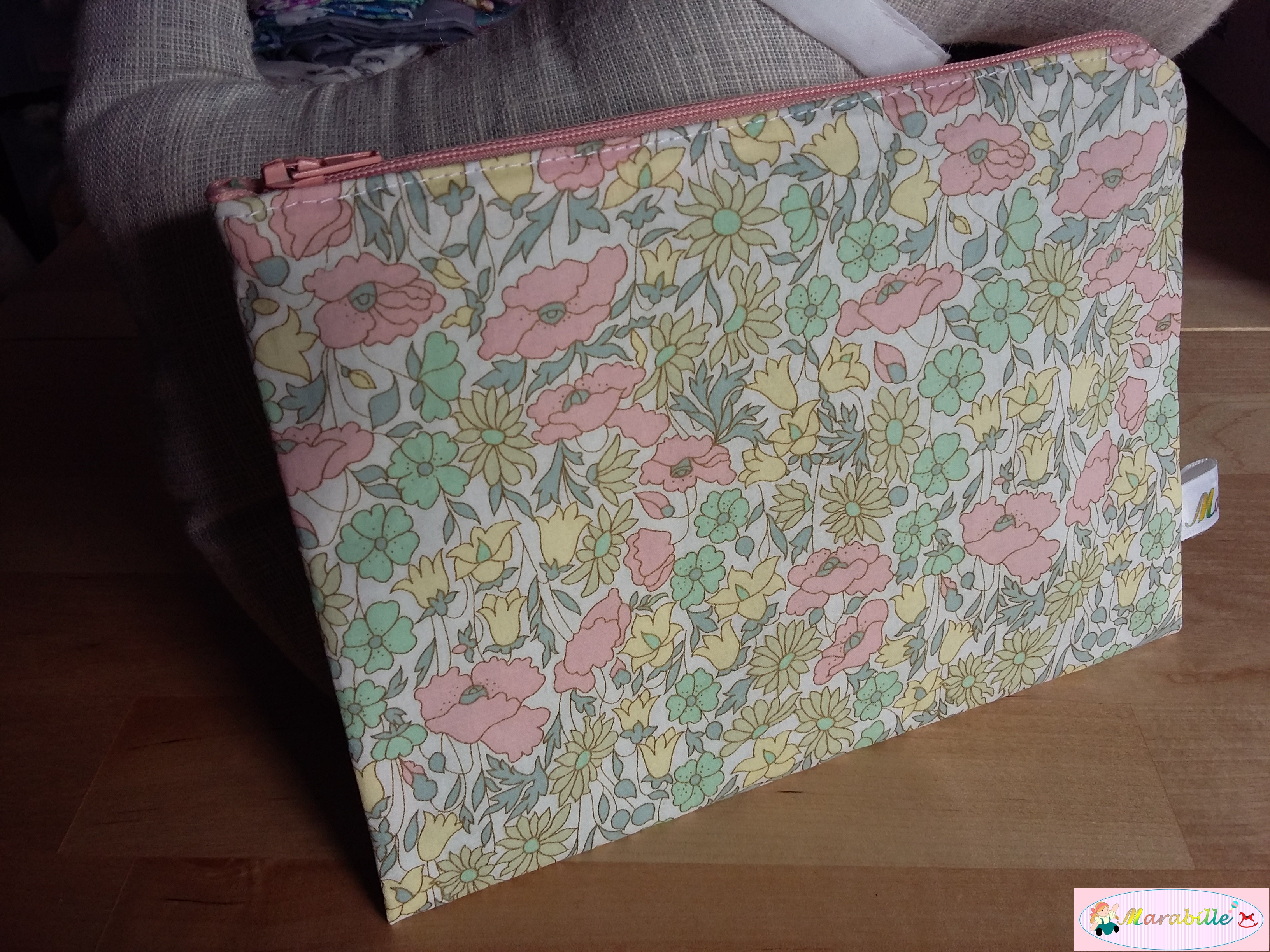 Pochette Liberty Poppy and Daisy multicolore pastel