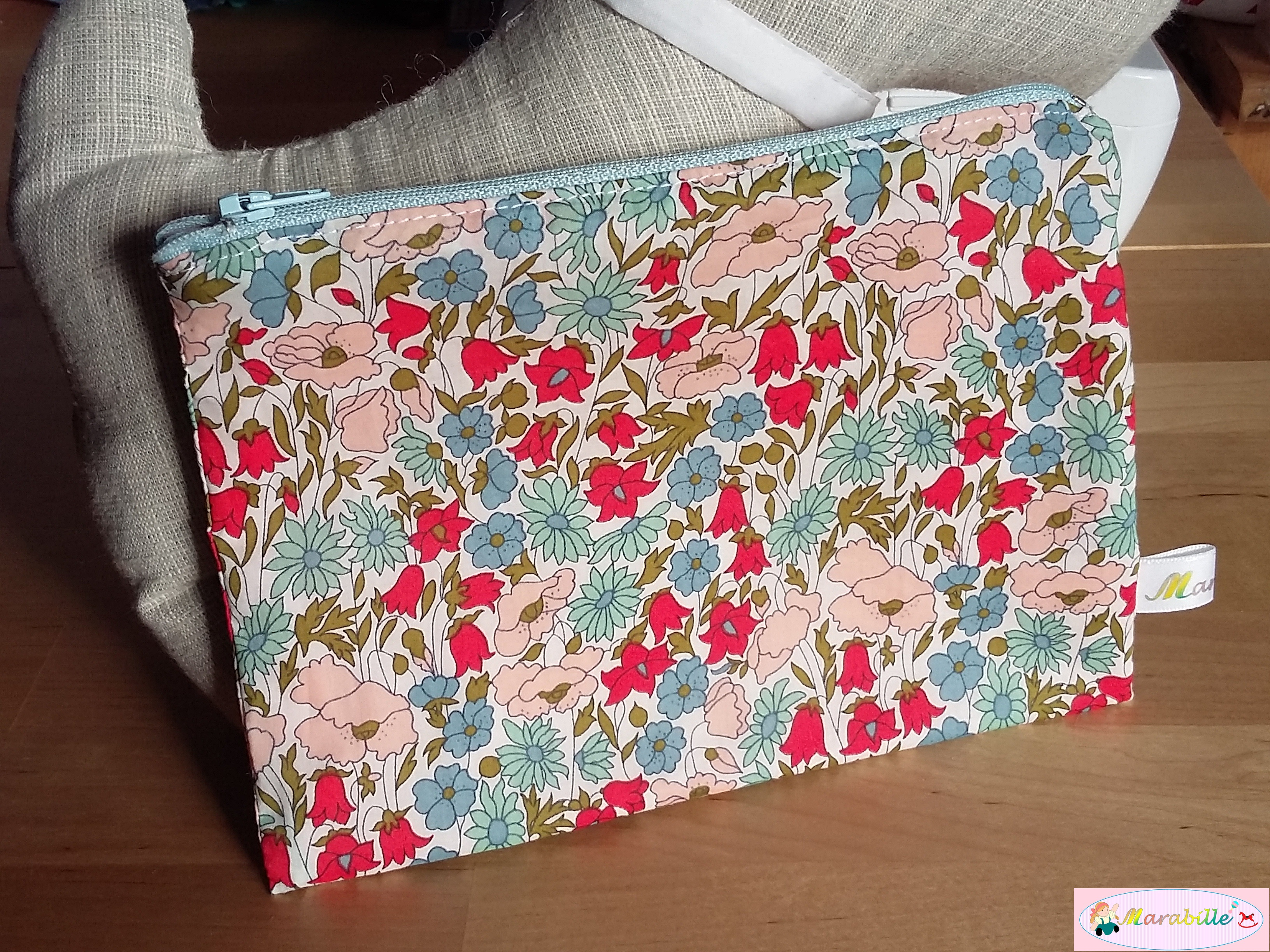 Pochette Poppy and Daisy multicolore vif